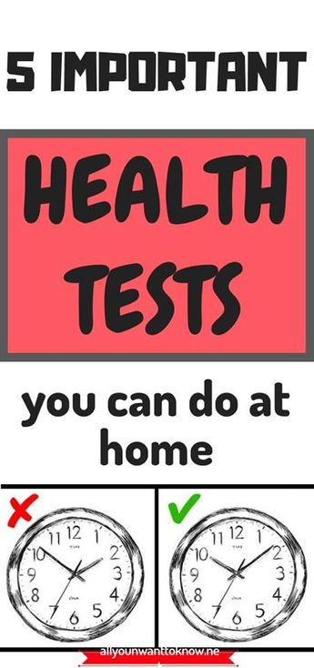 Some people avoid preventive medical exams either because they don't have the time or because they are afraid of doctors. However, you can do a couple of health tests on your own. These methods will help you discover whether it's time to see an expert or you are completely well.