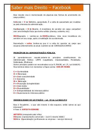 Direito administrativo Macetes