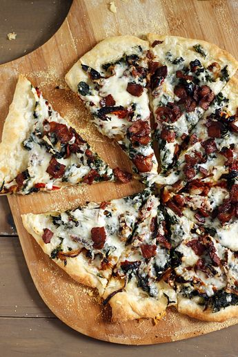 Bacon, Spinach, and Sundried Tomato Pizza