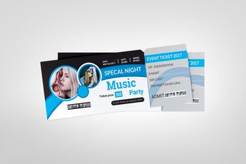 Printable Concert Ticket Template 002417 - Template Catalog