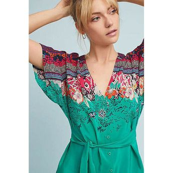 ccdd46303f90 Anthropologie Vanessa Virginia Takato Silk Tunic 00P BNWOT   eBay