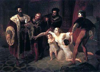 Death of Inessa de Castro, Morganatic Wife of Portuguese Infant Don Pedro, 1841