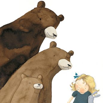 Detail from Goldilocks and the Three Bears Illustrated by Anna Walker Published by Little Hare