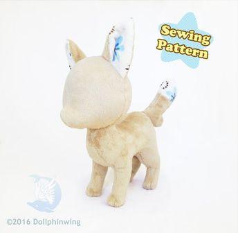 bfc7dfe7d924b PDF sewing pattern - Fox laying lying s