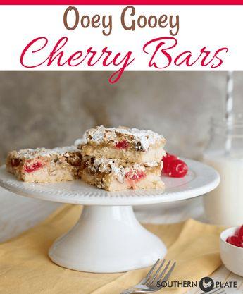 Ooey Gooey Cherry Bars - Southern Plate