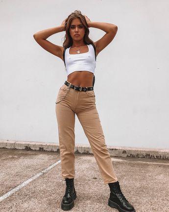 "★ PRINCESSPOLLY.COM ★ on Instagram: ""Killer outfit 💣️ our TWIIN Approach Knit Top + Minkpink Neutral Scando Jeans + Mirage Eyelet Belt + Dr. Martens Jadon Boots Black Polished…"""