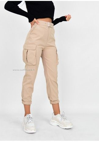 Pocket Detail Cargo Trousers