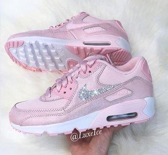 free shipping 99a8c 8e5f3 Nike Air Max Thea White With Hombre white pink Swarovski X