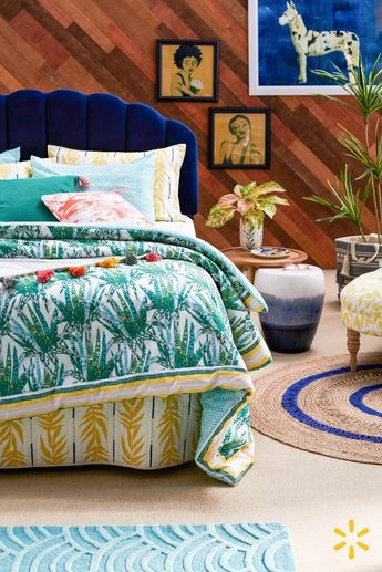 Feel cozy & happy in a charming bedroom full of inspiring prints & lots of color. Discover all the gorgeous treasures in Drew's new collection, then mix & match to your heart's content.