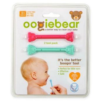 Oogiebear 2-Pack Infant Nose And Ear Cleaner In Pink/aqua