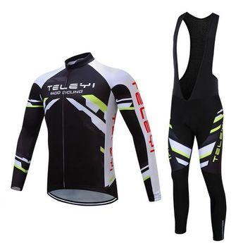 Teleyi Long Sleeve Cycling Jersey Sets Ropa Ciclismo Mtb Bike Jersey  Cycling Clothing Maillot 2acdb01ec