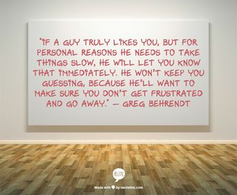 how to take it slow when dating a guy