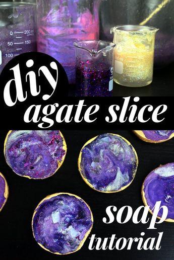 DIY Agate Slice Soaps That Anyone Can Make!