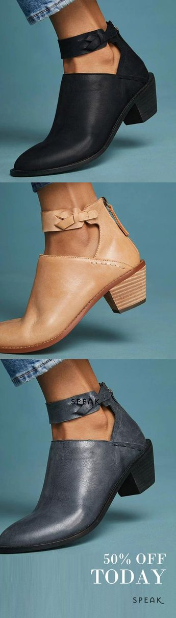 Ankle-Strap Heels - 50% off today. The cutest boots, heels, shoes, loafers and more are all at SpeakShop.co <3