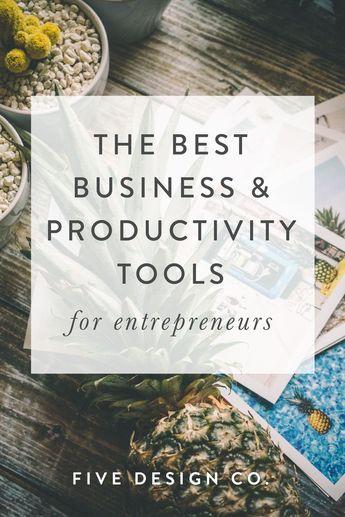 The Best Business Tools for Entrepreneurs // Five Design Co.