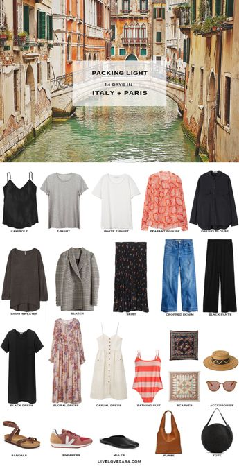 What to Pack for Italy and Paris Packing Light