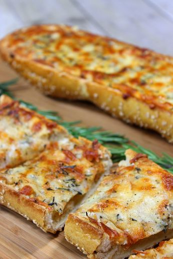 This Roasted Garlic Rosemary Cheese Bread works equally well as a delicious appetizer, side dish or meatless entree!