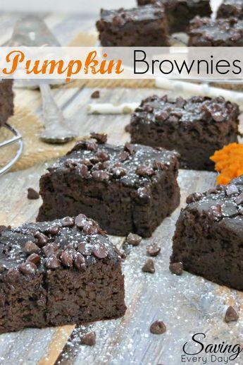 Extra Fudgy Flourless Pumpkin Brownies