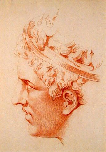 Jean-François de Neufforge (Belgium 1714-1791) Head of a young man à l'antique
