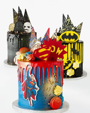 Superman cake batman star wars drip cakes