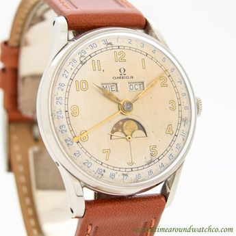 225635631c4 1946 Vintage Omega Triple Date Moonphase Ref. 2471 1 Stainless Steel Watch