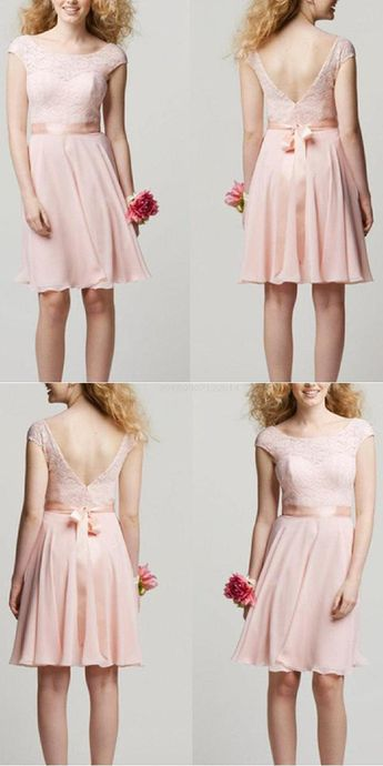 b792a8b07617c modabelle Lace Dusty Pink Bridesmaid Dresses For Wedding Ch