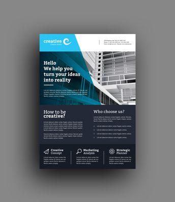 Lisbon Modern Business Corporate Flyer Template - Graphic Templates