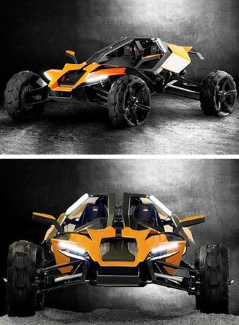 KTM AX Concept. Yep I'll take two, one red, one blue. Ok the yellows kinda hot too