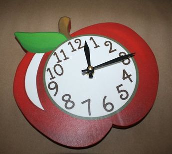 Apple Teacher's Wooden WALL CLOCK for Kids Bedroom Baby Nursery Playroom WC0064