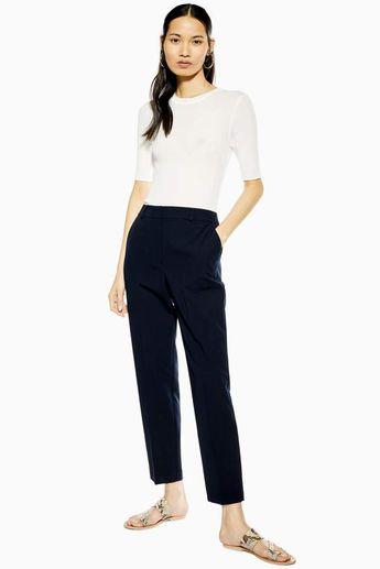 Topshop Blue Smart Trousers