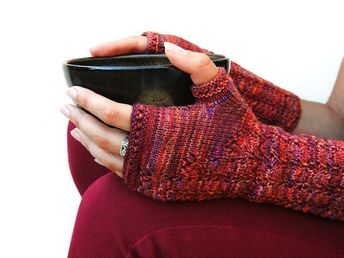 Mitaines Volubilis- Tutoriel de tricot