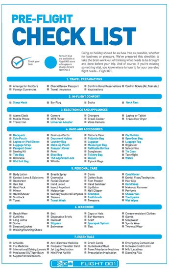 Best Pre-Flight Checklist - Your Top Travel Packing Guide