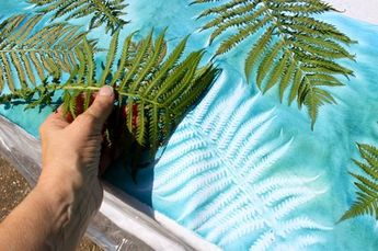More Sun Printing Fabric with Dye-na-Flow - Bloom, Bake & Create