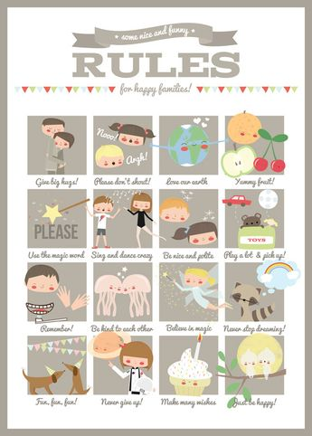 Family Rules by Apanona - L'Affiche Moderne