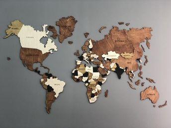 World Map Wood World Map World Map Wall Art Wood Wall Art Wooden World Map Wood Map Travel Map House