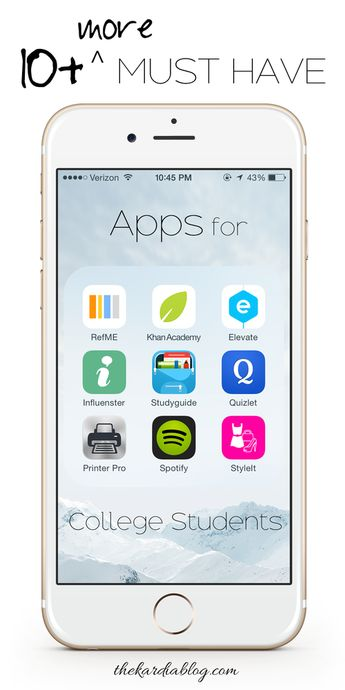 10+ MORE Must Have Apps for College Students