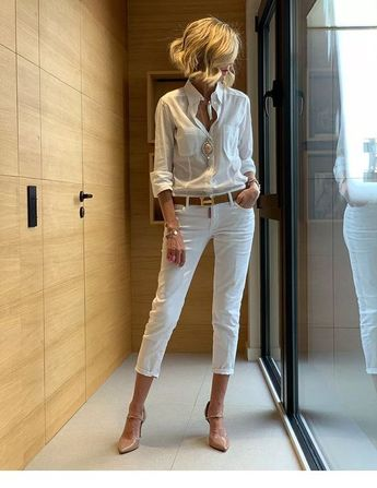 White office look