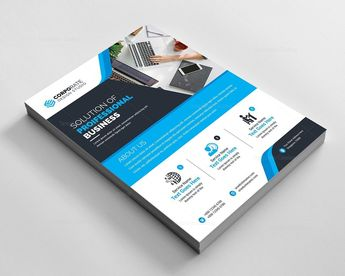 Pro Corporate Flyer Design Template - Graphic Templates
