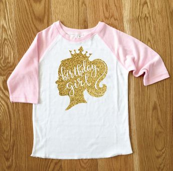 Princess Birthday Girl Sparkle Number Girls Tee 2nd Baseball Third Raglan