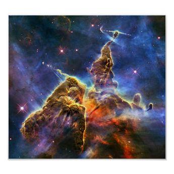 Carina Nebula (Hubble Telescope) Poster | Zazzle.com