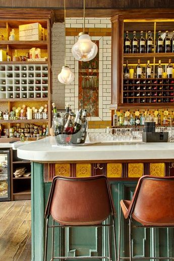 Finest vintage industrial bar restaurants examples