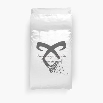 Jace Herondale Quote Duvet Cover