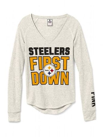 Pittsburgh Steelers Pocket Varsity Crew - PINK - Victoria s ba8464882