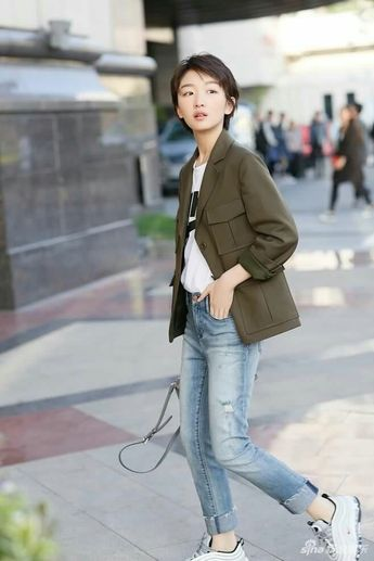 e6a300677c6cc ZhouDongyu wears a  Burberry embroidered silk hoodie with