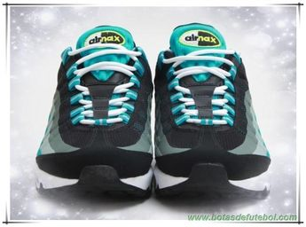 sale retailer 99984 5db5d Preto Venom Verde-Turbo Verde Nike Air Max 95 No-Sew 616190-