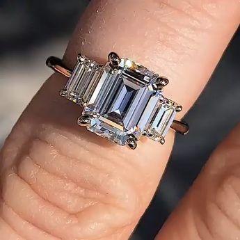 cb553b2911c8d perla ring - 2 carat cushion cut NEO moissanite wedding set