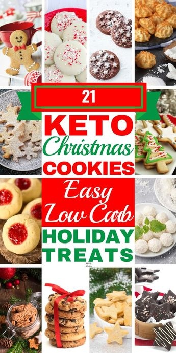 Keto Christmas Cookies! These easy, low carb keto cookies are fabulous ketogenic diet desserts you can enjoy during the Christmas holidays! From the best shortbread & cinnamon snickerdoodles to chewy peanut butter & chocolate to yummy cream cheese iced almond flour recipes there's no guilt with these keto sweets! Whether you need no-bake recipes or 3 ingredient convenience, these keto cookies will curb your cravings keto diet style! #keto #ketodiet #ketocookies #lowcarb #ketoChristmas #nobake