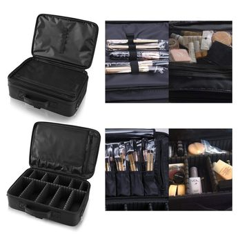 Hotrose Professhional Large Space Makeup Brush Bag - Cosmetic Artist Organizer Kit - Handle Shoulder Bag - Travel Box (Large) Only $ 14,49