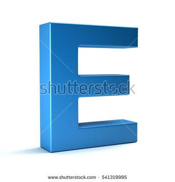 E Letter Icon. 3D Render Illustration