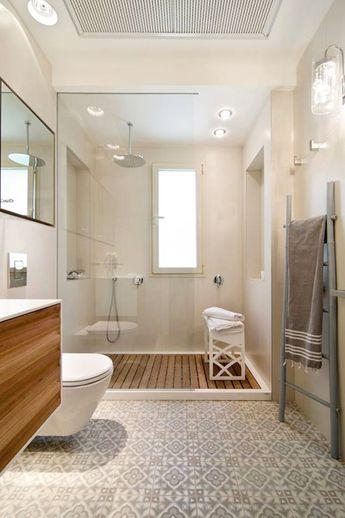 Elegant 10 Beyond Stylish Bathrooms With Patterned Encaustic Tile